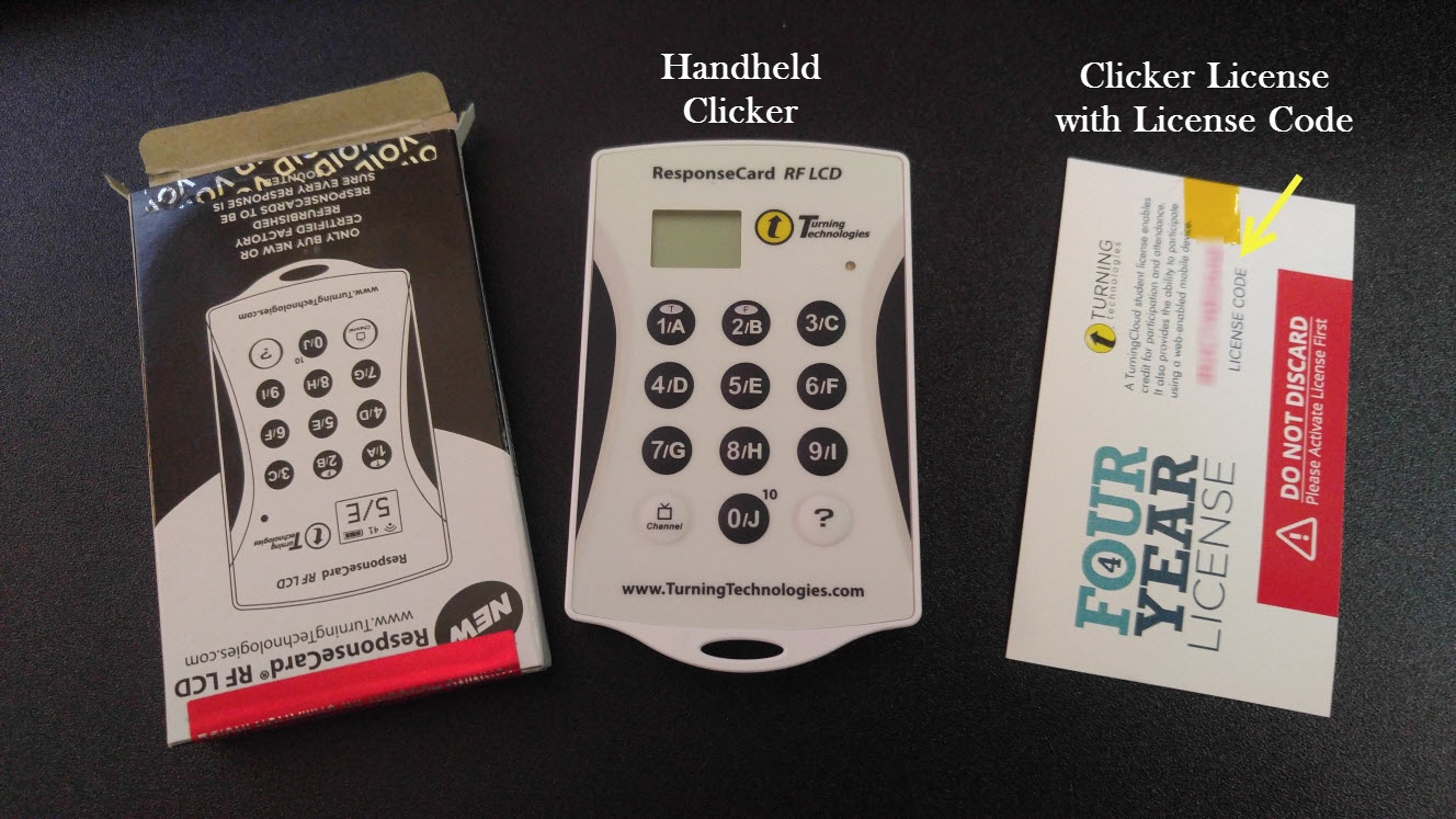 handheld clicker and license