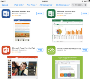 microsoft office apps to download