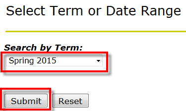 dropdown for Term