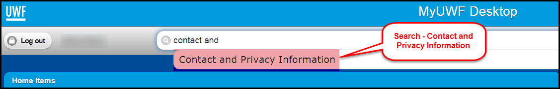 image of contact and privacy information app in MyUWF