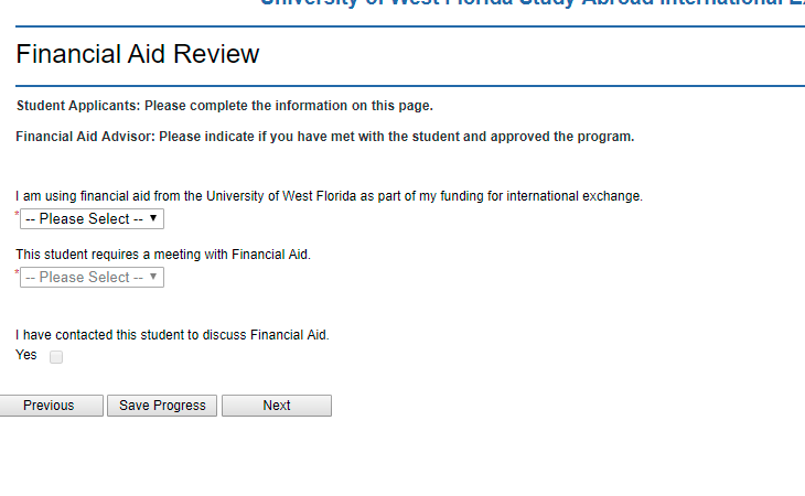 Regarding Financial Aid Review questions