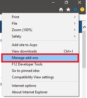 Manage add-ons options