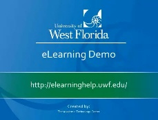 screenshot of UWF eLearning Demo